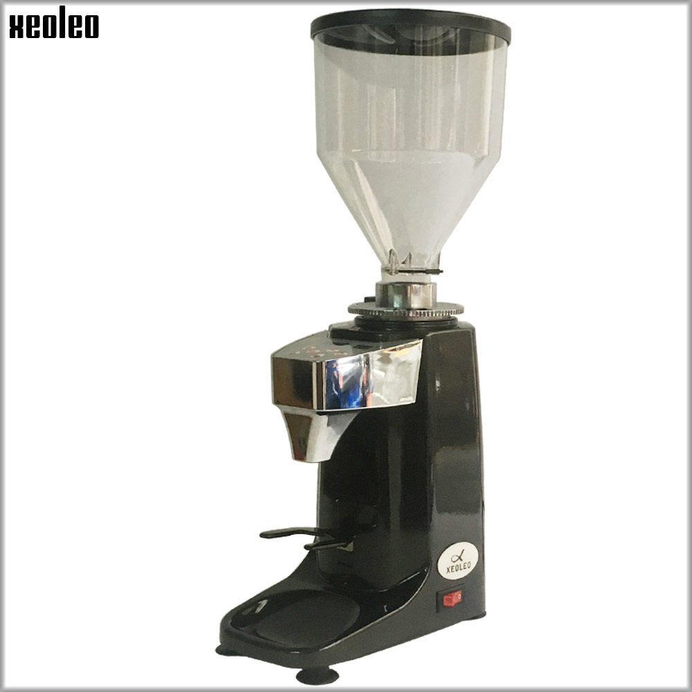 Xeoleo Electric Coffee grinder Commercial Coffee miller Professional Coffee milling machine with timing&temperature set Aluminum xeoleo professional coffee grinder commercial coffee powder milling machine electric coffee bean grinding machine coffee maker
