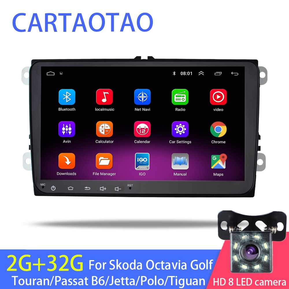 "9"" Android 8.1 GO car radio GPS navigator for Volkswagen Skoda Octavia Golf 5 6 Touareg Passat B6 Jetta polo Tiguan audio WIFI"