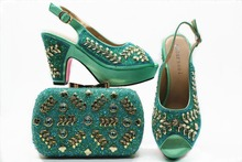 fb448ca7e504 2018 shoes bag set african aso ebi big wedding party sandal shoes and clutches  bag new