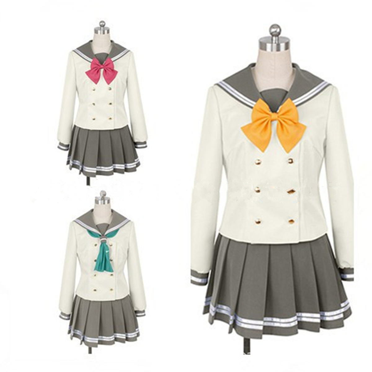 Love Live! Sunshine! Takami Chika Sailor Fancy Dress JK Uniform Cosplay Costume Gift Christmas