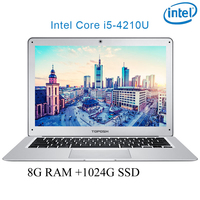 P7 06 8G RAM 1024G SSD i5 4210U 14 Untral thin notebook Gaming laptop desktop computer