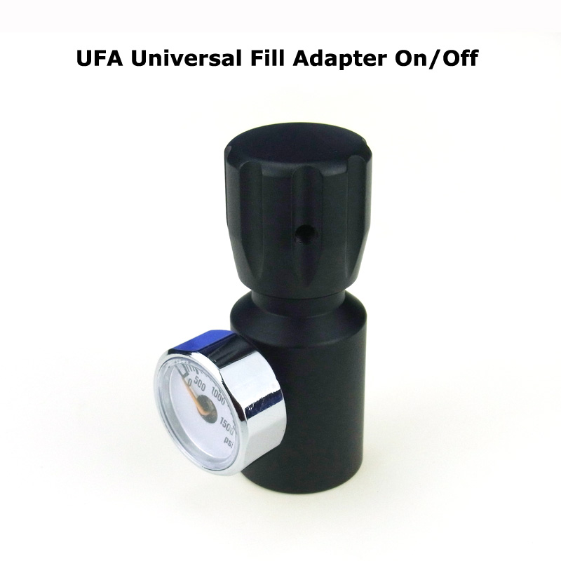 New Paintball AirGun Airsoft PCP Coil Remote Hose UFA Universal Fill Adapter On/Off CO2 Filling Adapter With Gauge 1/8NPT Thread