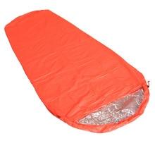Saco de dormir ultraligero de emergencia para supervivencia, para acampar al aire libre, primeros auxilios, sacos de dormir para calentar, resistente al agua, bolsa de emergencia