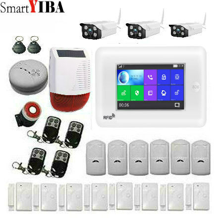 SmartYIBA 3G WiFi GSM Security Alarm System RFID IOS Android APP Control Wireless Smart Home Burglar