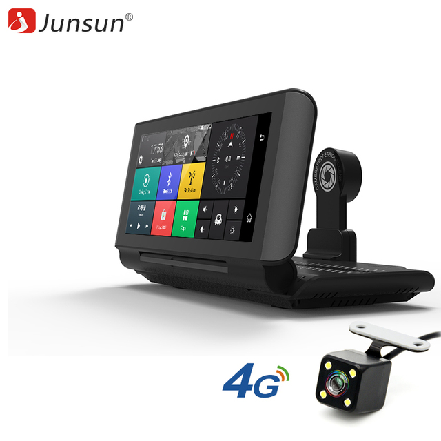 """Junsun E29 Pro Автомобильные видеорегистраторы GPS 4 г 6.86 """"Android 5.1 автомобиль Камера WI-FI видео Регистраторы регистратор видеорегистратор видеорегистратор парковка мониторинга"""