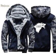 Game of Thrones Hoodie Men Summer Coming Hooded Sweatshirt Coat 2018 Winter Warm Fleece Thick TV Show Hip Hop Cool Jacket Mens