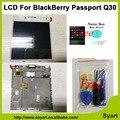 Высокое качество Для Blackberry Passport Q30 Уиндермир ЖК-Дисплей + Сенсорный Экран Планшета Ассамблея с рамкой + закаленное стекло