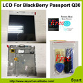 De alta calidad para blackberry passport q30 windermere lcd display + touch screen digitalizador asamblea con marco + envío de vidrio templado