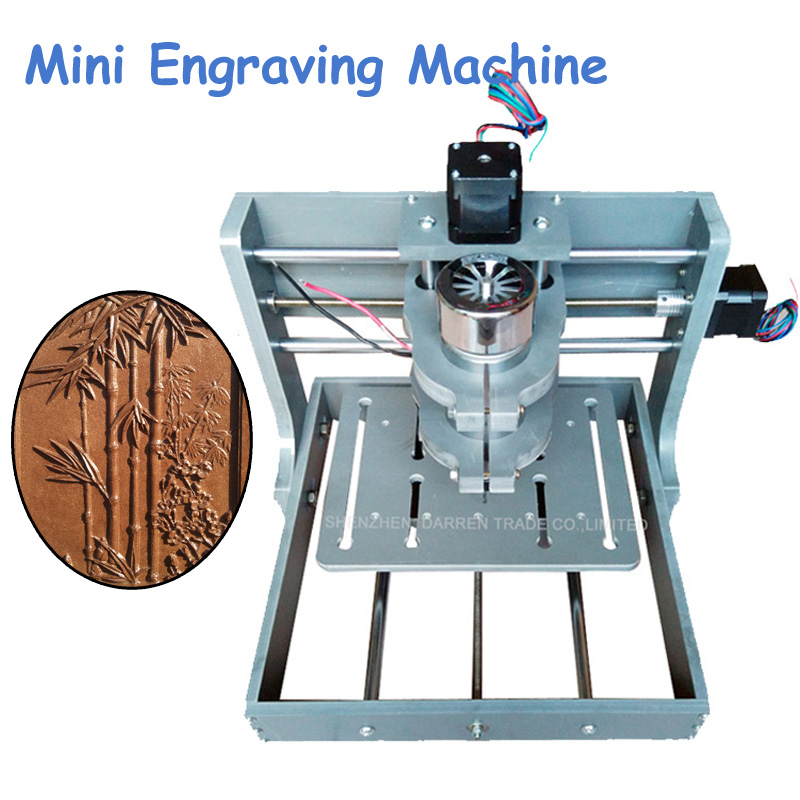 1pc DIY CNC Wood Carving Machine Mini Engraving Machine PVC Mill Engraver Support MACH3 System PCB Milling Machine CNC 2020B acctek mini cnc desktop engraving machine akg6090 square rails mach 3 system usb connection