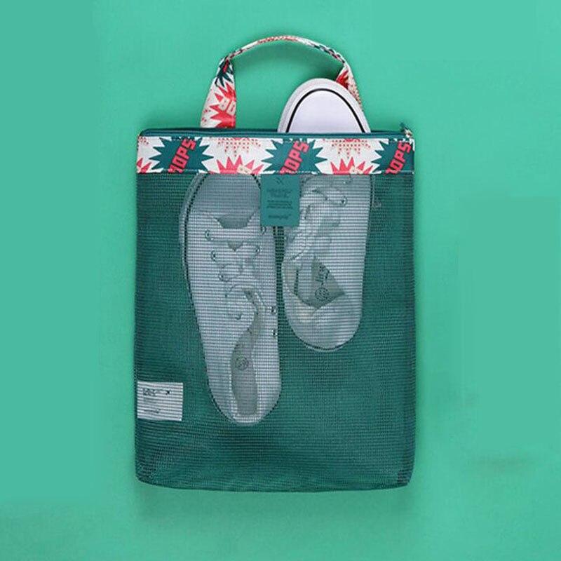 Shushiruo сетки прозрачные пляжные сумки летом приморский сетки получать мыть полоскания движения ноутбук сумка обувь Макияж Организатор Totes