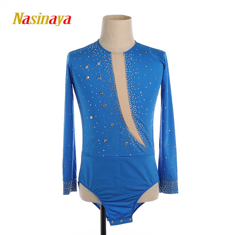 Nasinaya Boys Men Figure Skating Performance Clothing Customized Competition Ice Skating Leotard <font><b>Kids</b></font> Patinaje <font><b>Gymnastics</b></font> Dance3 image