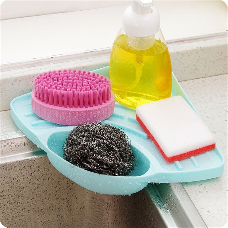 kitchen sink dish rack drainer shelf plastic organizer vegetable fruit drying washing holder organizer tray for kitchen tools - Kitchen Sink Tools