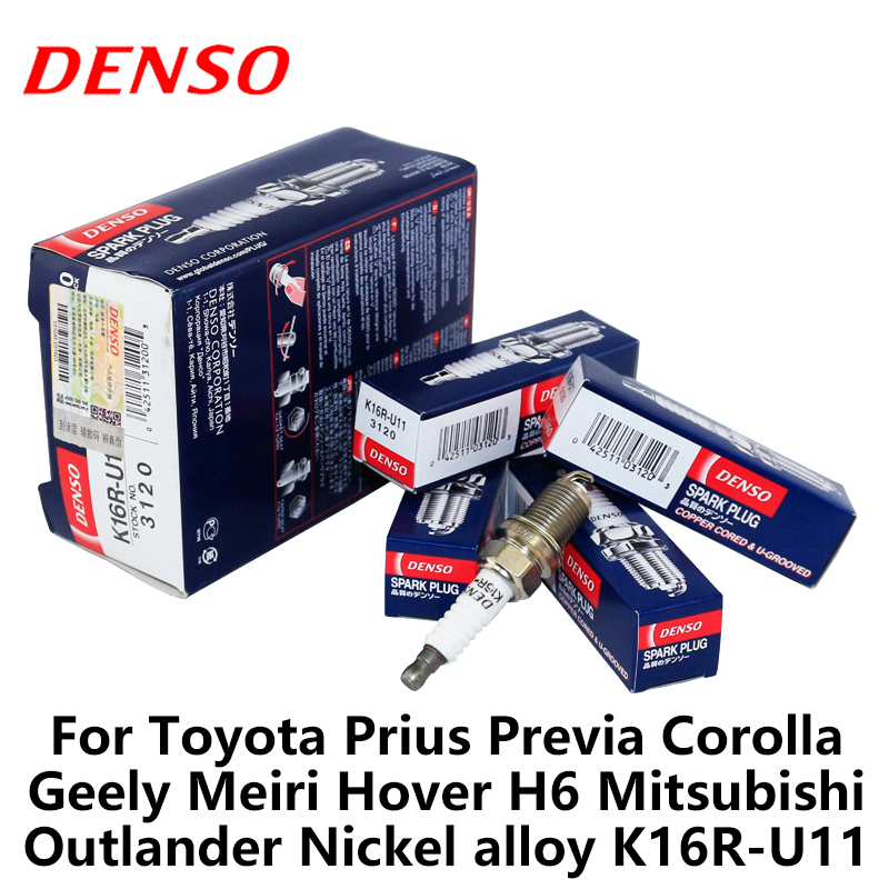 DENSO Car Spark-Plug Prius K16R-U11 Mitsubishi Outlander Corolla Geely Toyota for Previa title=