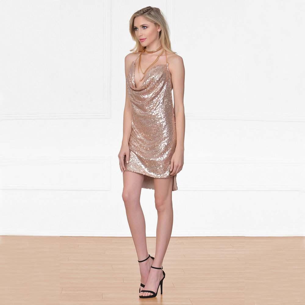 caa83f3953a Acheter Maylina Sexy Party Dress Femmes 2018 Summer Sequin Club ...
