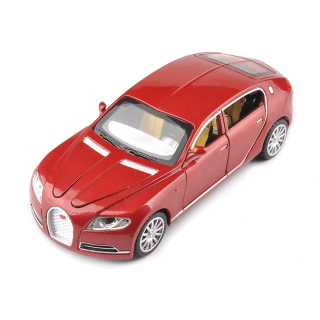 Hot sale Collectible Alloy Diecast toy Cars Model 1/32 Bugatti Veyron 16C Galibier w/light&sound Pull Back oyuncak children Toy