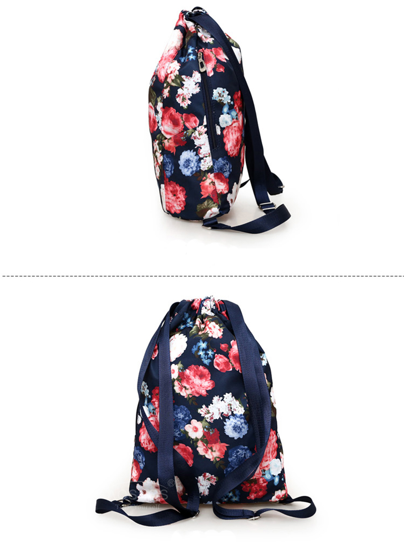 9e5280664e Aosbos Flower Drawstring Backpack Durable Breathable Sports Bag for ...