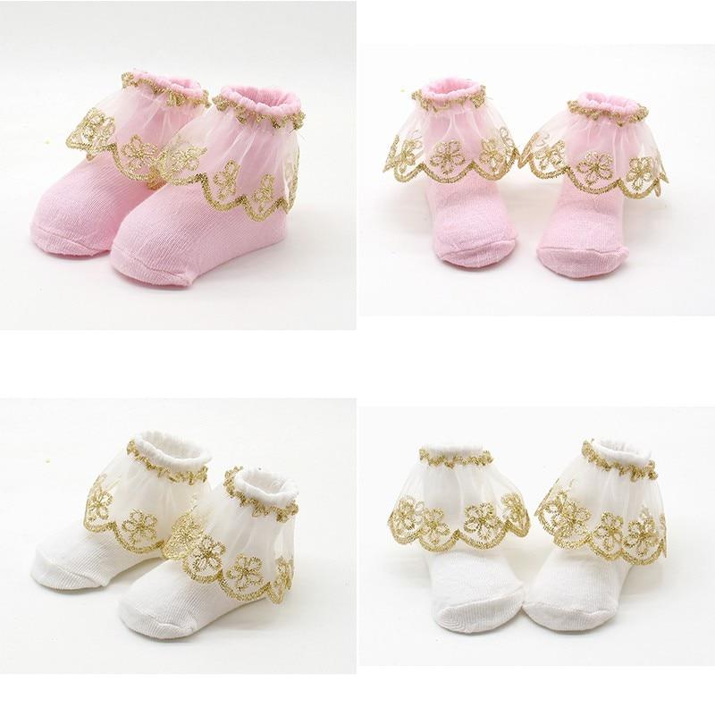 0-12M Newborns Baby Kids Infant Socks Holiday Birthday Gifts for Baby Girls Mesh Ruffle Socks