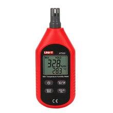 купить UNI-T Mini Temperature Humidity Meter UT333 Indoor Outdoor Thermometer LCD Backlight -10-60 Celsius Industrial Pyrometer дешево