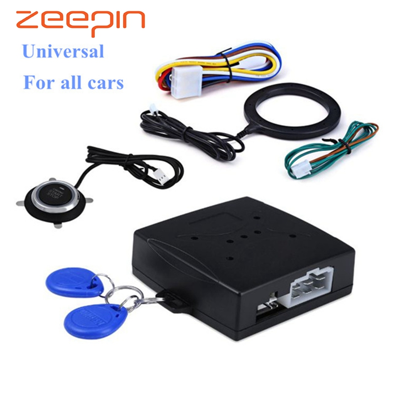 Car start stop button Engine Push Start Button Alarm RFID lo