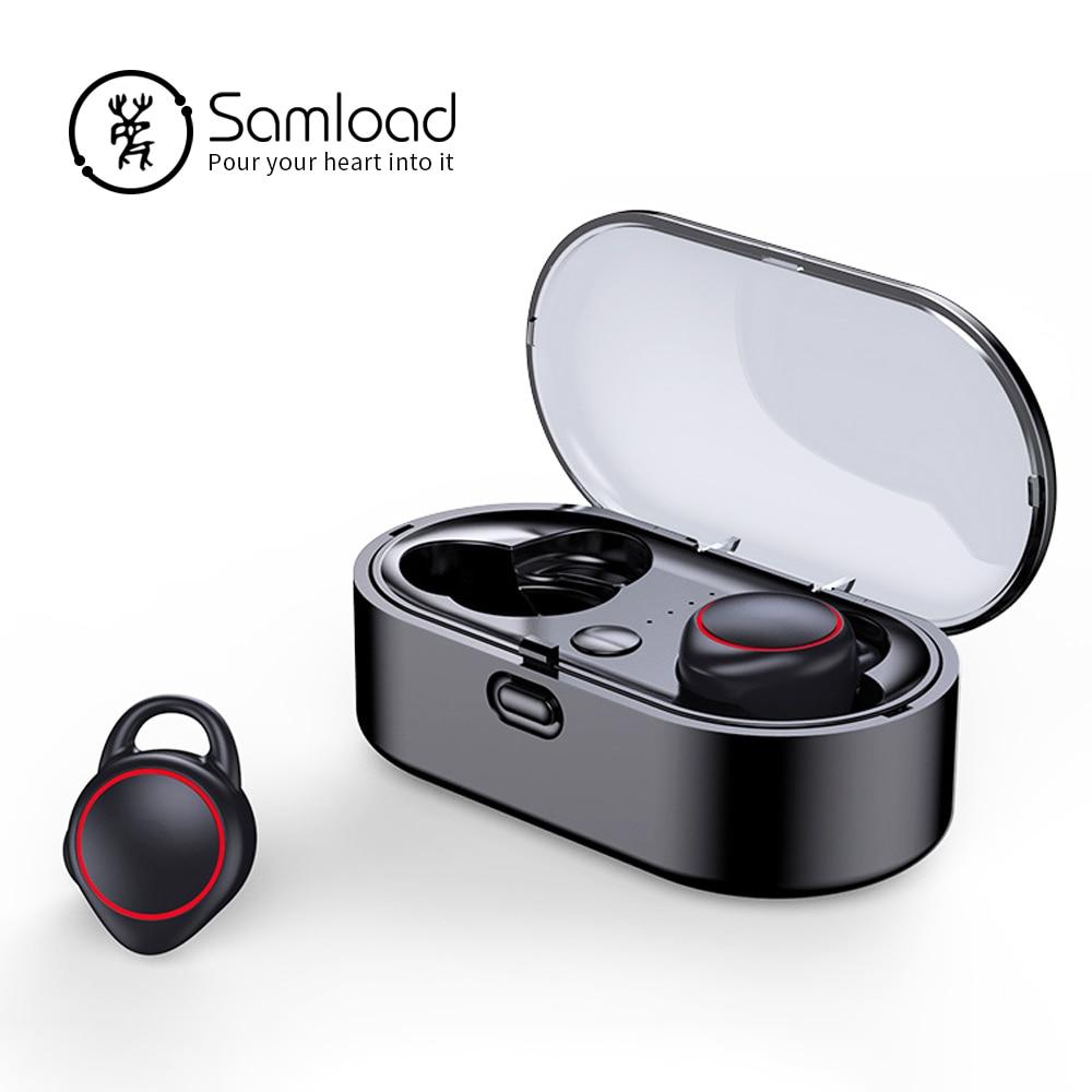 Samload TWS Bluetooth 5,0 auriculares inalámbricos auriculares deportes 3D estéreo Mini auricular en auriculares para iPhone 6 7 8 Xiaomi