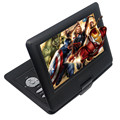 2016 Nueva portátil de 10.1 Pulgadas reproductor de DVD con pantalla giratoria y juego y función de la TV, conveniente para el hogar, CDplayer MP3/MP4