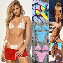 3ad6831182244 pink ruffle bikini cheap swimwear sexy bikini woman swimsuit maios string bikini  swimsuit thong bandage halter
