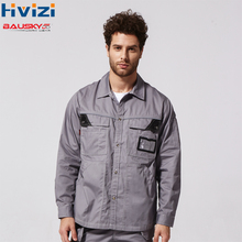 Men's Work Shirts Clothing Quick Dry Summer Work Shirts Long Sleeves Construction Industry Cargo Shirts Multi Tool pockets B229