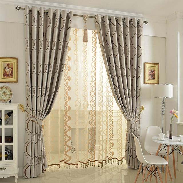 Blinds jacquard fabric curtain for livingroom Blue