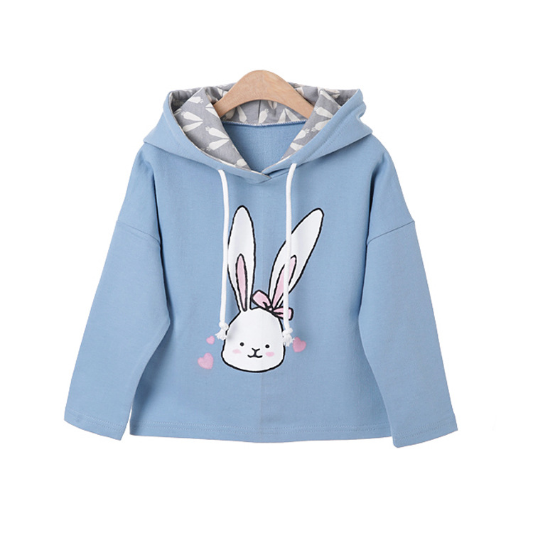baby girl cartoon rabbit printed hoodies sweatshirt children clothing (16)