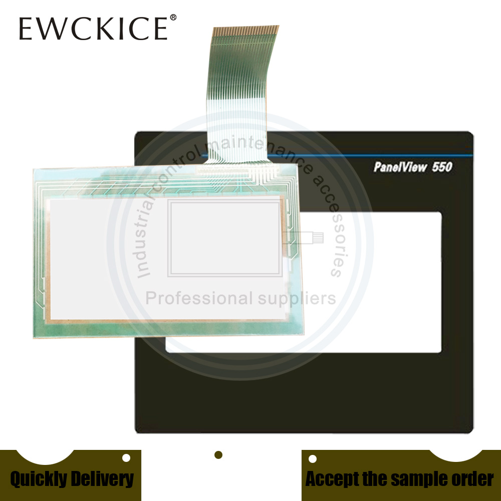 NEW PanelView 550 2711-T5A9L1 2711-T5A15L1 2711-T5A16L1 HMI PLC Touch screen AND Front label Touch panel AND Frontlabel