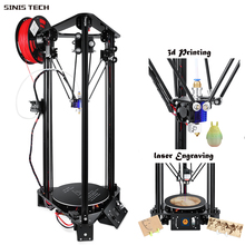 China 3D Laser Printer Cheap Good Qualidate 3D Printer Reasonable Price DIY Kit Single Extruder Large Printing Size Dia180X320MM autoleveling he3d k200 delta 3d printer kit diy printer single nozzle extruder support multi material