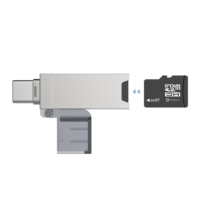 DM CR006 USB C Card Reader Micro SD/TF Type C Multi Memory Card Reader for MacBook or smartphone with USB-C interface mixza iu 003 micro sd card reader for apple smartphone gold