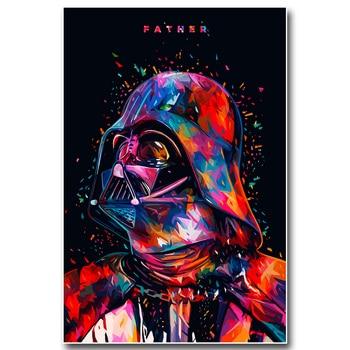 Плакат гобелен шелковый Дарт Вейдер Звездные войны арт