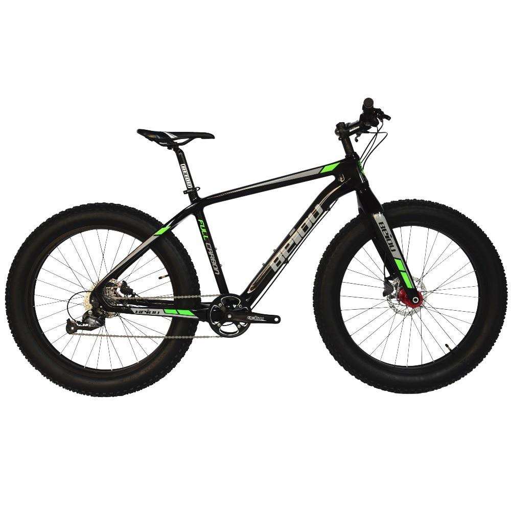BEIOU Full Carbon Fat Tire Vélo Graisse Vtt 26 Pouce 4.0