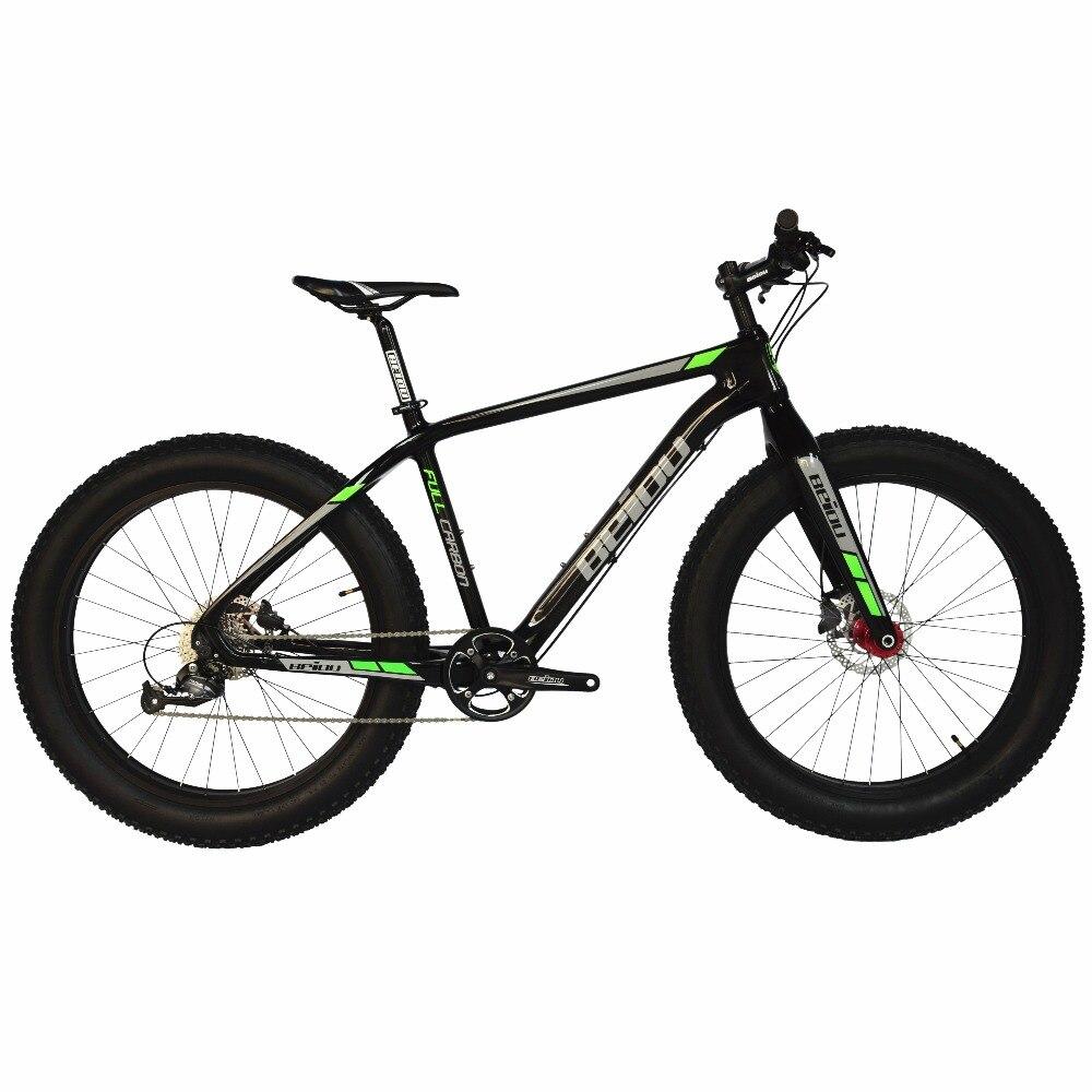 BEIOU plein carbone gros pneu vélo gros VTT 26 pouces 4.0