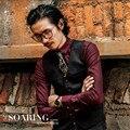 British Style Men Autumn Vest Vintage Fashion Suit Vest For Man Slim Fit Casual Brand Clothing Male Waistcoat A2923