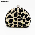 Kiss Karen Sexy Leopard  Women's Clutches Elegant Diamonds Hasp Velour  Evening Bag Women Party Clutch Bags Club Lady Minaudiere