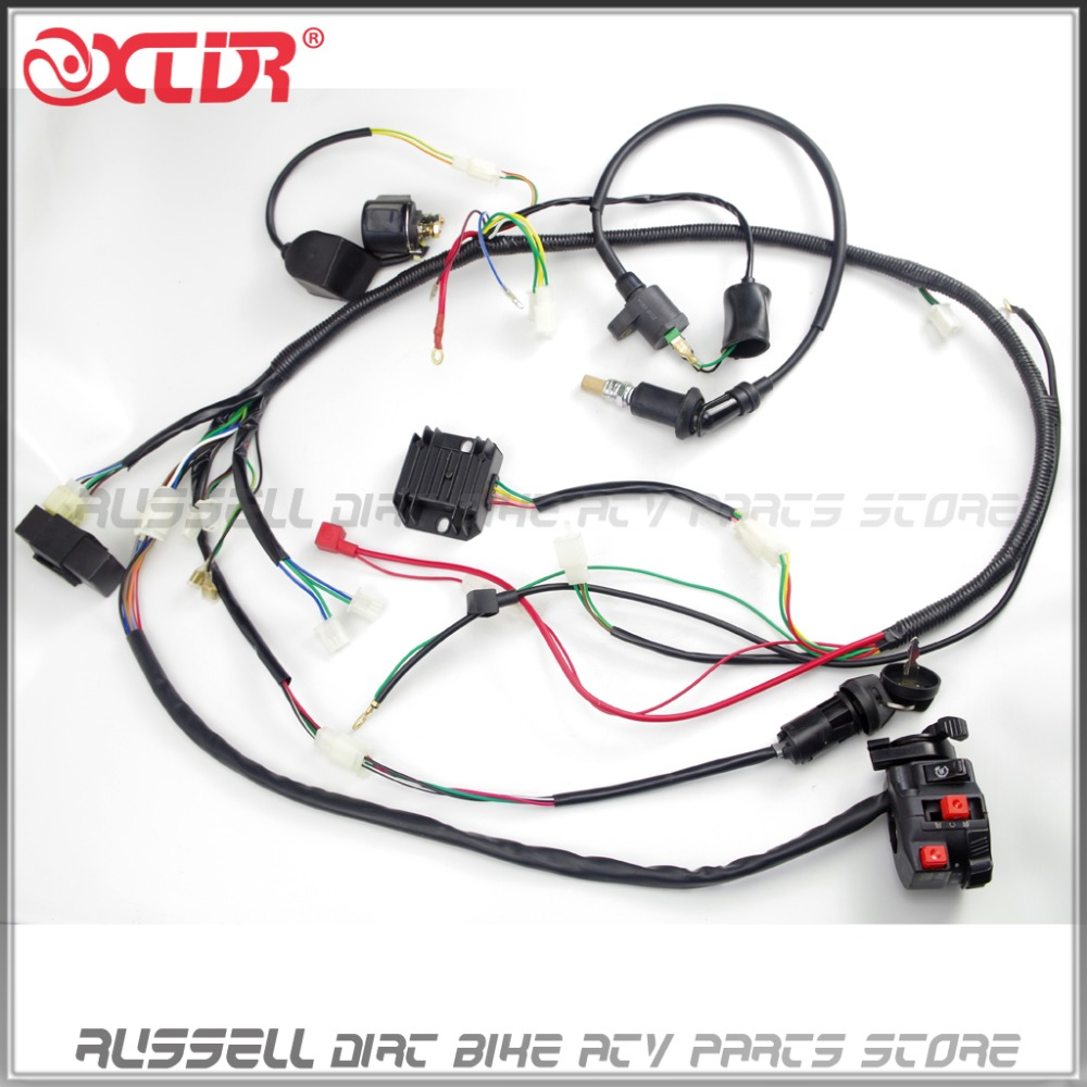 GY6 150cc complete Full wiring Harness Cable Wire ignition Coil CDI Box Unit Rectifier switch spark gy6 150cc complete full wiring harness cable wire ignition coil GY6 150Cc Wiring Harness Exploded Diagram at panicattacktreatment.co