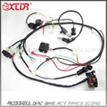 GY6 150cc complete Full wiring Harness Wire ignition Coil CDI Box UnitRectifier switch spark plug