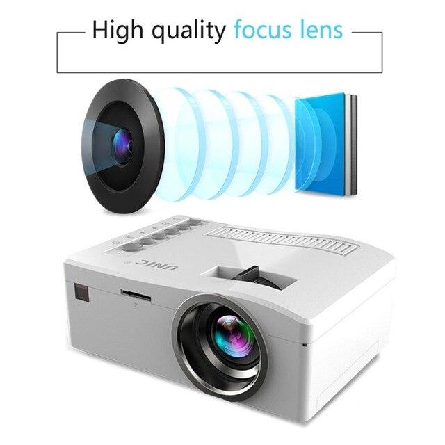 Big Sale UC18 HD 1080P TFT LCD Compact Siz eHome Mini HD Projector TV Multi-Media Player Theater Home Cinema Video Projector