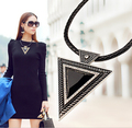 SBY0181 Fashion Vintage Jewelry Collars Chains Triangle Statement Necklace Rhinestone Necklaces & pendants