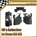 Car-styling For Nissan R35 GTR Carbon Fiber Steering Column Surround Trim Set 4pcs LHD