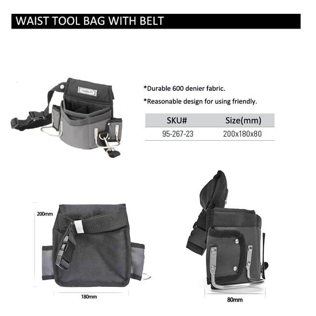 Stanley carpenters tool waist bag storage hammer holder bags work pocket gadget utility pouch with adjustable belt electricians 6