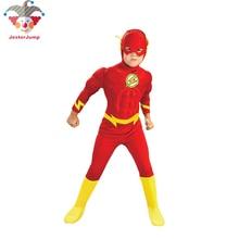Purim Flashman Costume The Flash Muscle Superhero Fancy Dress Kids Halloween Fantasy Comics Movie Cosplay