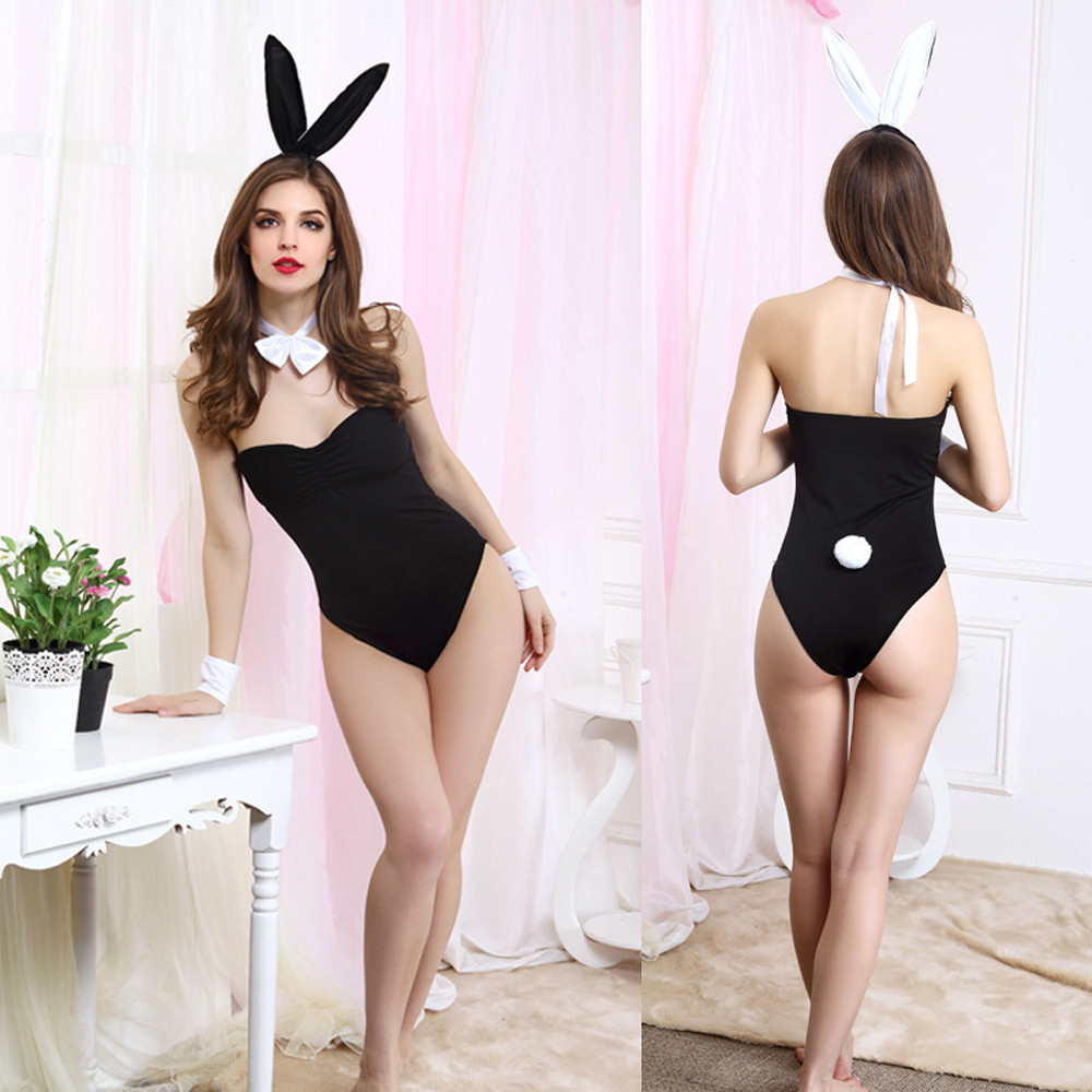 Sexy Lingerie Women Underwear Porno Uniform Temptation Erotic Thin Rabbit Cosplay Padded Spice G-String Tease Game Costume H5