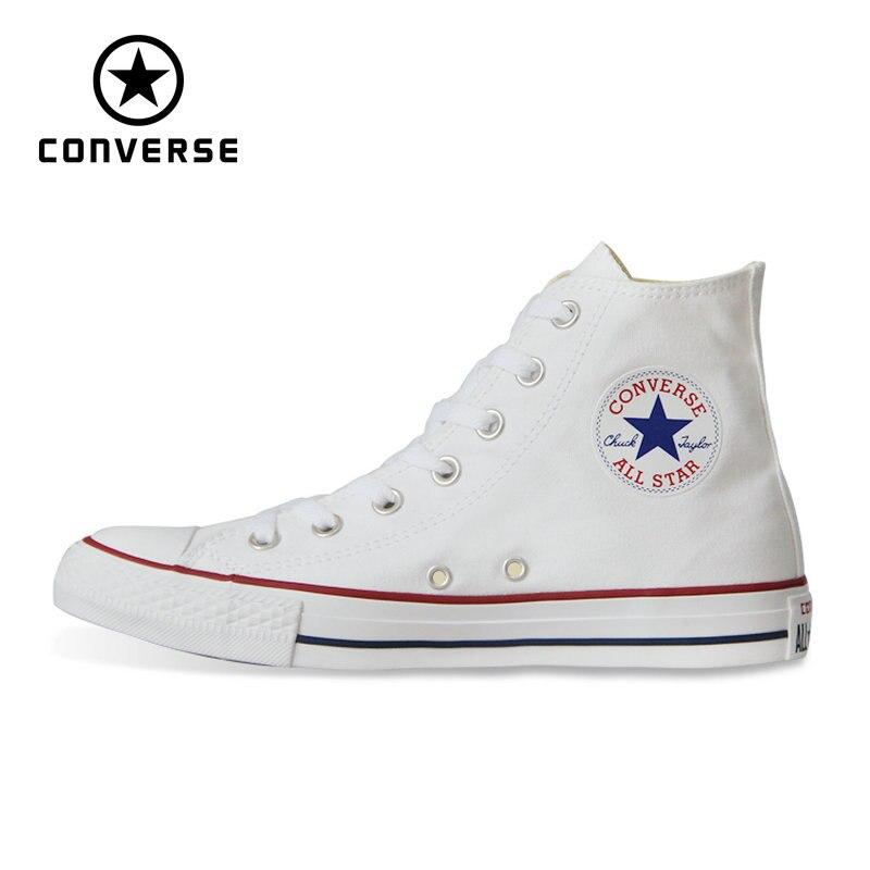 Nuevo Original Converse all star zapatos Chuck Taylor hombre y mujer unisex alto clásico zapatillas Skateboarding zapatos 101013