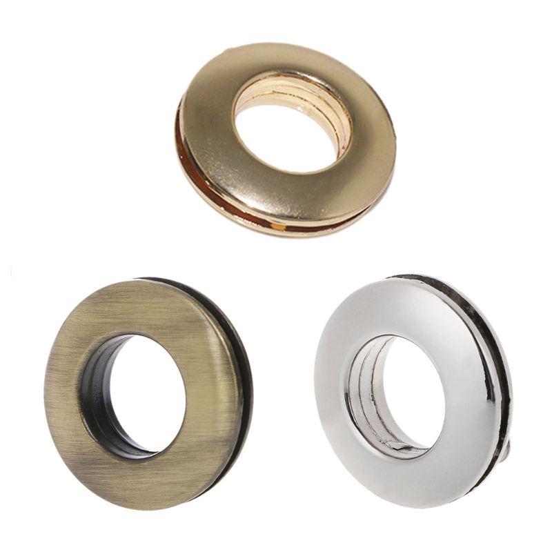 THINKTHENDO Round Shape Metal Ring With Screw For Handbag Purse Shoulder Bag Parts Accessory Handbag Buckles Silver/Bronze/Gold