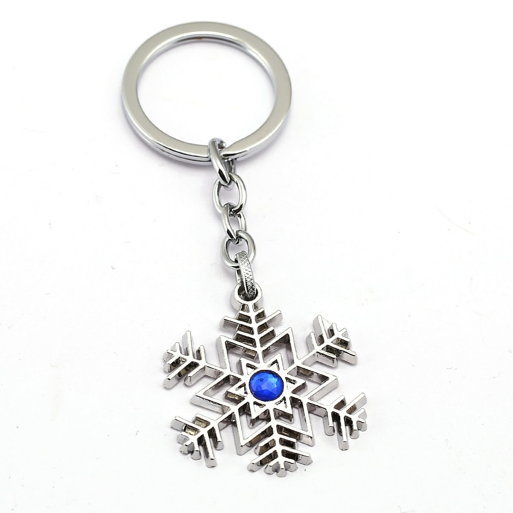 Snowflake Keychain 2017 New Key Ring Holder Girl Gift Chaveiro Key Chain For Car Fashion Jewelry