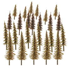 100pcs Pine Trees N HO Z OO Scale Architecture Railroad Scenery Building Road Landscape Sand Table Diorama Layout Toys Plastic