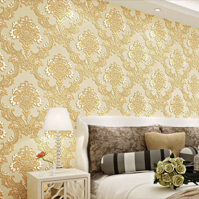 Fashion Beautiful Wallpaper Wall Covering Attractive Embossed Home ...